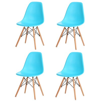 Bailee Mid Century Modern Retro Dining Chair Color: Blue