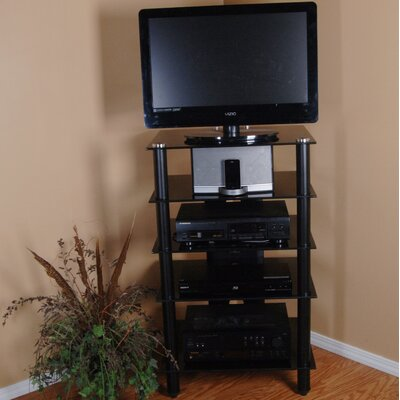 Tier One Designs TV Stand Finish: Black