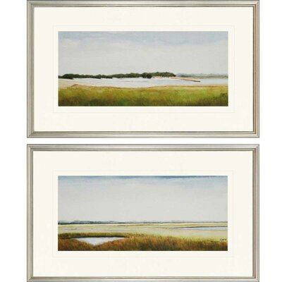 Marshlands II by Coggins 2 Piece Framed Painting Print Set 1433