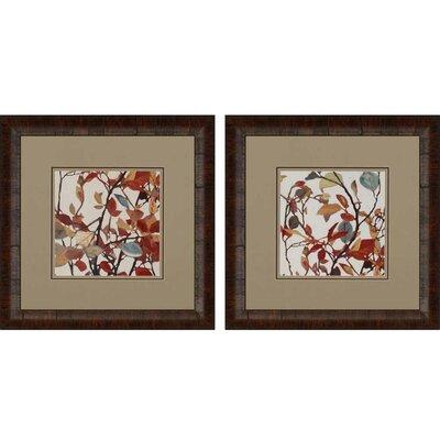 Paris Red Umbrella by Shirley Novak 2 Piece Framed Graphic Art Set 3614