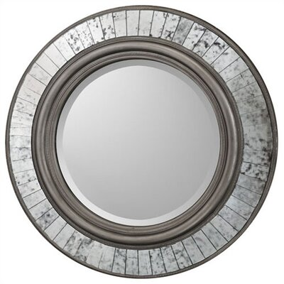 Buy Low Price Paragon Round Silver Sparkle Mirror Wall