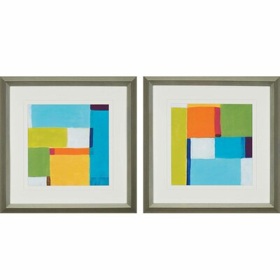 City Square I by Vess 2 Piece Framed Painting Print Set 1238