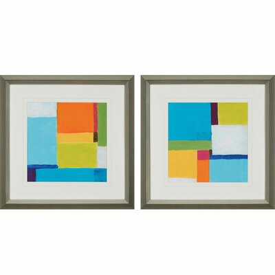 City Square II by Vess 2 Piece Framed Painting Print Set 1239