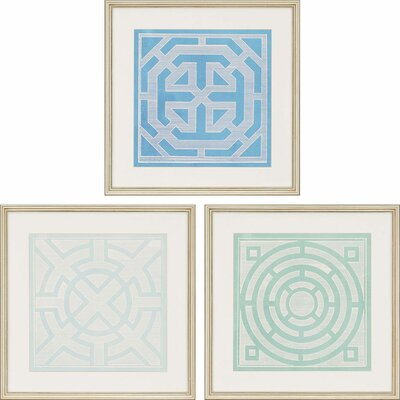 Ornamentals II by Vision Studio 3 Piece Framed Graphic Art Set 1084