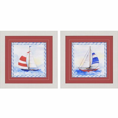 Nautique II by Roberts 2 Piece Framed Painting Print Set 1189