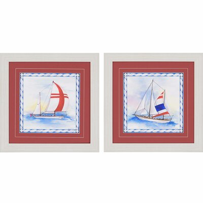 Nautique I by Roberts 2 Piece Framed Painting Print Set 1188