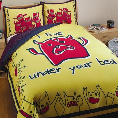 Monsters 3 Piece Reversible Duvet Cover Set Size: Full/Queen