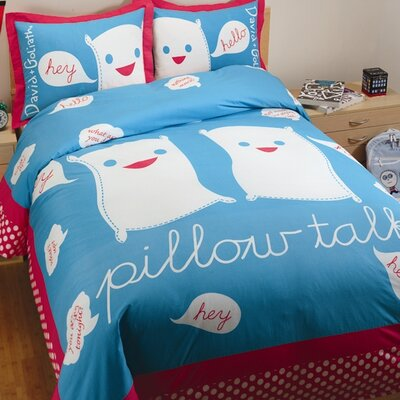 Pillow Talk Reversible Duvet Cover Set Size: Full/Queen