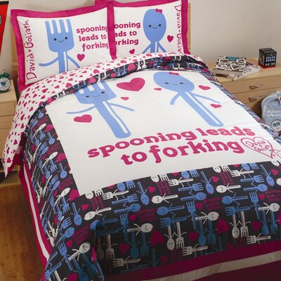 Spooning Reversible Duvet Cover Set Size: Twin