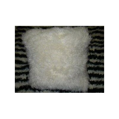 Hera Flokati New Zealand Wool Throw Pillow Size: Square 16