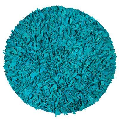 Calypso Jersey Aqua Area Rug Rug Size: Round 49