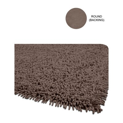 Echo Brown Area Rug Rug Size: Round 4