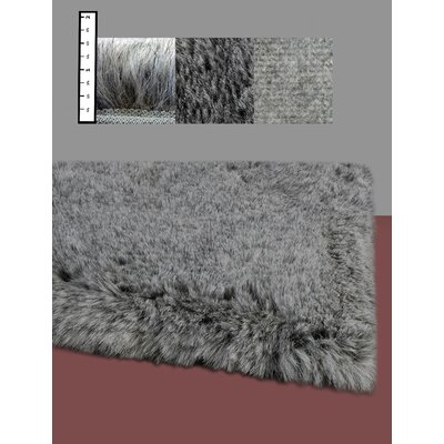 Benes Faux Flokati Grey Area Rug Rug Size: Rectangle 6 x 9