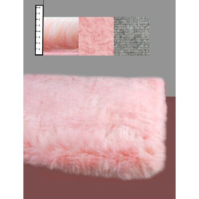 Benes Faux Flokati Pink Area Rug Rug Size: Rectangle 5 x 7