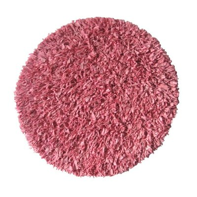 Calypso Jersey Pink Area Rug Rug Size: Round 49