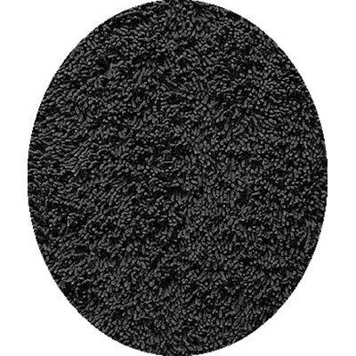 Echo Black Area Rug Rug Size: Round 4