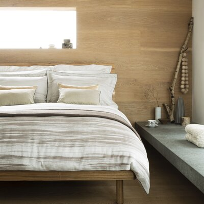 Painted Stripe Duvet Cover Size: Queen