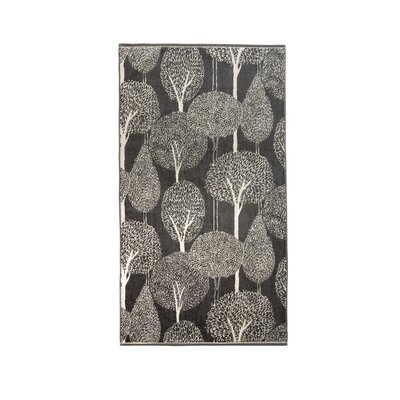 Silhouette Hand Towel Color: Charcoal