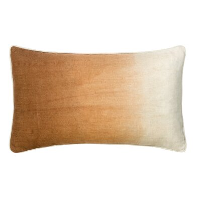 Sumatra Cotton Lumbar Pillow Color: Sienna