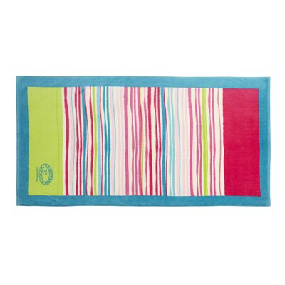 Haven Stripe Beach Towel Color: Summer