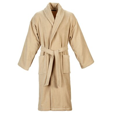 Christy Supreme Robe Bathrobe Color: Stone, Size: Small