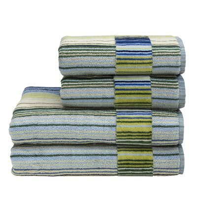 Supreme Capsule Stripe Cotton Bath Towel Color: Blue