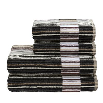 Supreme Capsule Stripe Cotton Bath Towel Color: Neutral