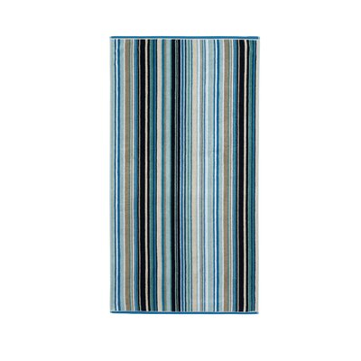 Barcode Bath Towel Color: Blue