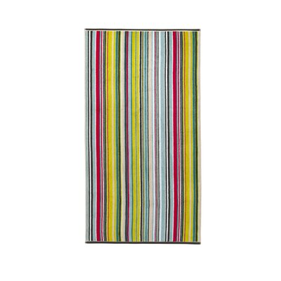 Barcode Bath Towel Color: Harlequin Multi