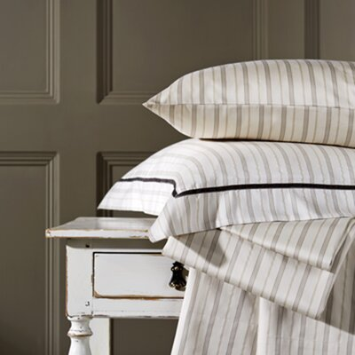 Bloomsbury Cotton Stripe Flat Sheet Size: Queen