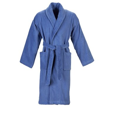 Christy Supreme Robe Bathrobe Size: Large, Color: Deep Sea