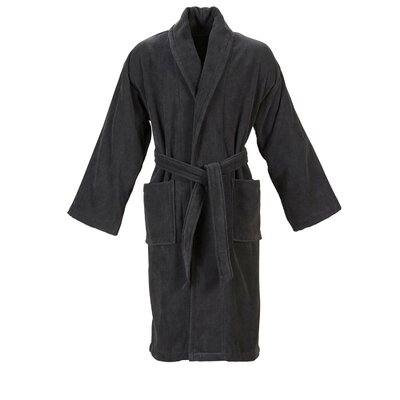 Christy Supreme Robe Bathrobe Size: Small, Color: Graphite