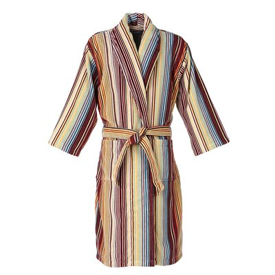 Capsule Stripe Robe Bathrobe Color: Stripe Spice, Size: Small