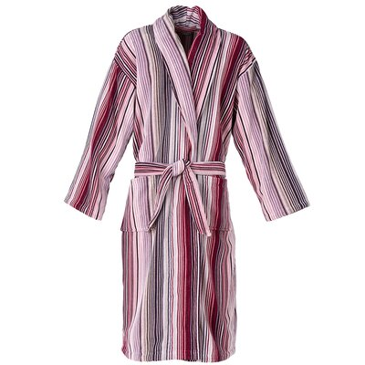 Capsule Stripe Robe Bathrobe Color: Stripe Berry, Size: Large