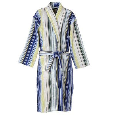 Capsule Stripe Robe Bathrobe Color: Stripe Blue, Size: Large