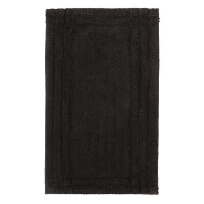 Eugene Bath Mat Size: Large, Color: Black