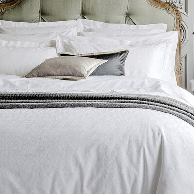 Chantilly Duvet Cover Size: King, Color: White
