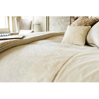Chantilly Pillow Case Color: Cream, Size: King