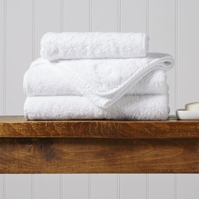 Turkish Cotton 5 Piece Towel Set Color: White