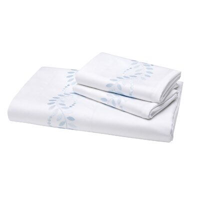 Batterson 300 Thread Count Fitted Sheet Color: Blue, Size: Queen
