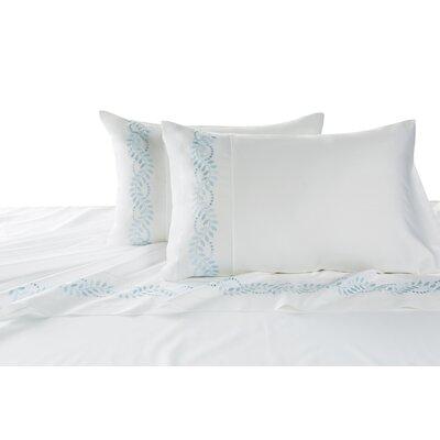 Batterson Cotton Pillow Case Color: Blue, Size: Standard