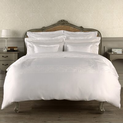 Batterson 300 Thread Count Flat Sheet Color: White, Size: Queen