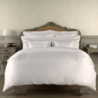 Batterson Duvet Cover Color: White, Size: Queen