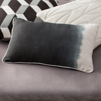 Sumatra Cotton Lumbar Pillow Color: Indigo