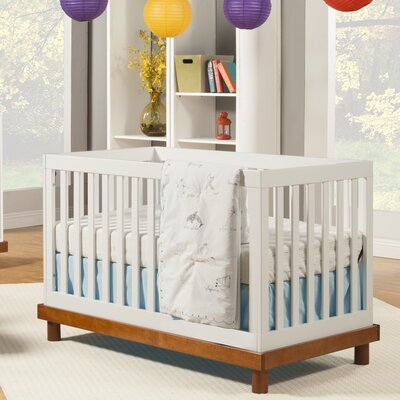 Baby Mod Olivia 3-in-1 Convertible Crib Color: Brown/White
