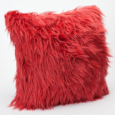 Mongolian Throw Pillow Color: Deep Persimmon