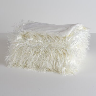 Mongolian Luxe Throw Color: Cream