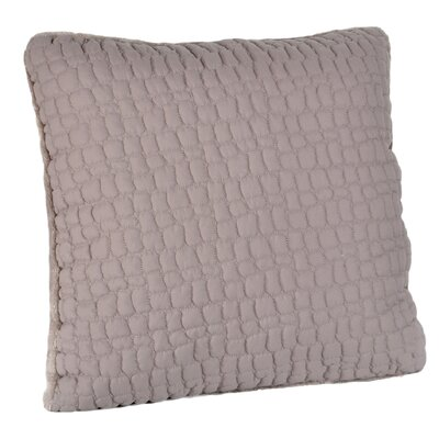 Pebble Quilted Pongee Decorative Throw Pillow Color: Taupe