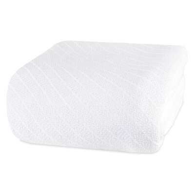 Ringspun Cotton Blanket Size: Full/Queen, Color: White