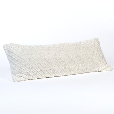 Diamond Sweater Knit Lumbar Pillow Color: Fresh Cream